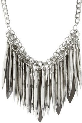 ASOS Statement Metal And Shell Spikes Necklace - Statement Necklace
