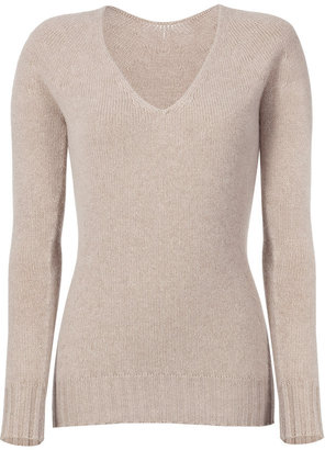 Iris von Arnim Corn Seamless V-Neck Pullover Deauville - Stylebop