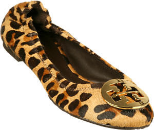 Tory Burch - Reva Leopard Haircalf Print Ballet Flat - Tory Burch