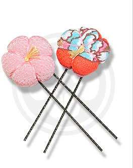 Chidoriya - Kimono Hair Pins (2 in pack) - Hair Pin