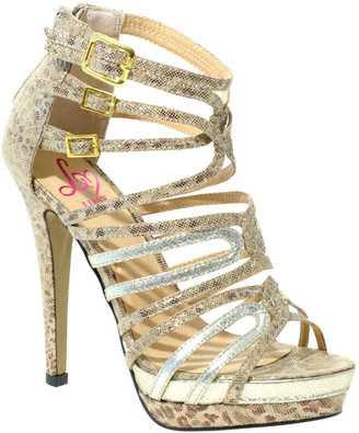 Lipsy Multi Strapped Platform Heeled Sandal - Lipsy