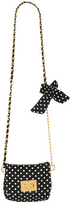 Polka Dot Chain Shoulder Bag - Handbags