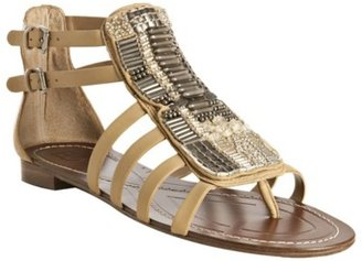 Boutique 9 natural leather beaded &#39;Prominent&#39; thong sandals - Ethnic Beaded Sandals