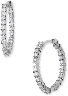Roberto Coin Diamond Hoop Earrings - Diamond Hoops