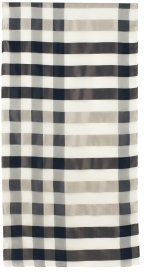 Oblong Satin Gingham Check Scarf - Burberry