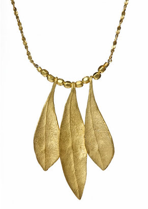 Catherine Weitzman Gold Olive Leaves Necklace - Catherine Weitzman Necklaces