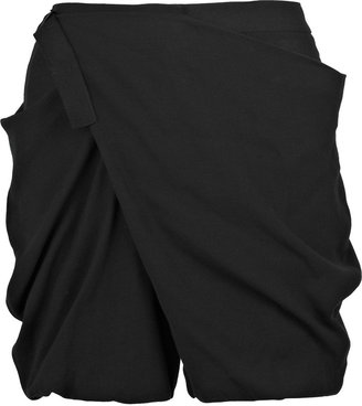 Alexander Wang Wool-blend draped shorts - Futuristic Fashion