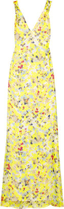 Adam Floral-print silk-chiffon maxi dress - Shop Tia Mowry&#39;s Romantic Maternity Look
