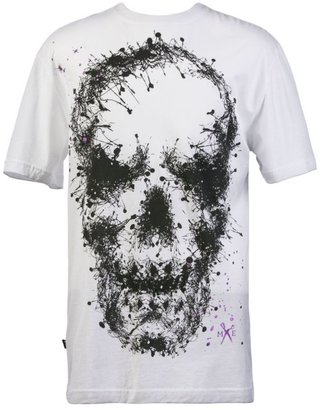 Marc Ecko Cut &amp; Sew T Shirt, Pollock Skull Graphic - Spring 2010 Men&#39;s Fashion