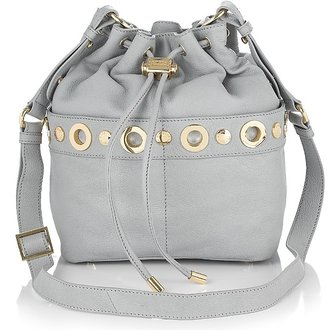 Badgley Mischka Platinum Label Erin Leather Drawstring Crossbody Bag - Handbags