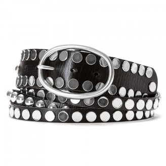 Women&#39;s Sliced and Studded Jean Belt - Linea Pelle