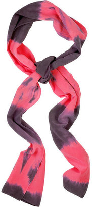 Sunshine &amp; Shadow Silk tie-dye short scarf - Patterned Scarf