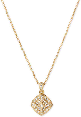 Nadri Small Crystal Pendant Necklace - Gold Pendant Necklaces