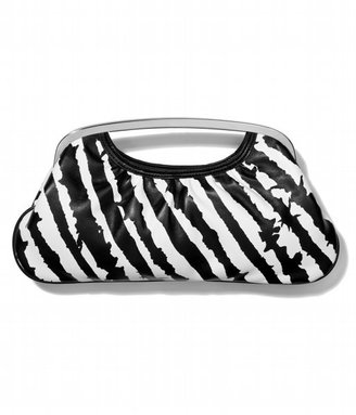 Zebra-Print Cutout Handle Clutch - Express