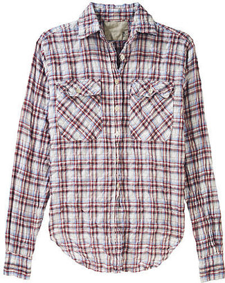 R13 Wrinkle Plaid Button Down - Plaid Button-Down Shirts 