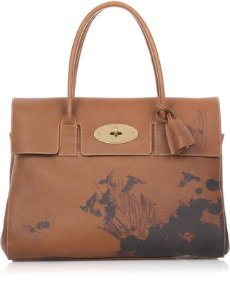 Mulberry Bayswater ink-print leather bag - Printed Leather Handbags