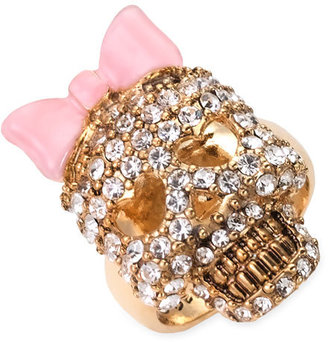 Betsey Johnson &#39;Iconic Collection&#39; Crystal Skull Ring - Stellar Skull Jewels 