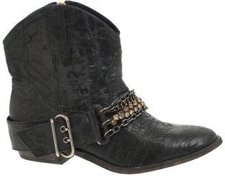 Steve Madden Brasko Chain &amp; Diamante Low Cowboy Boot - Get This Look-Jessica Alba