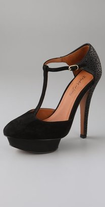 Elizabeth And James Paris Suede T Strap Pumps - Elizabeth and James