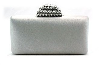"DESIGNED BY DENISE ""052"" Silver Satin Evening Clutch Bag - Shirise"