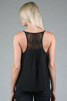 Twelfth Street by Cynthia Vincent Lace Back Tank - Twelfth St. By Cynthia Vincent