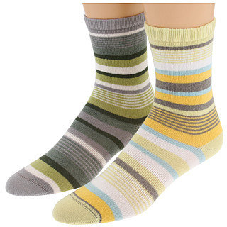 Lorpen - Leah Crew 3-Pair Variety Pack (Marigold Stripe/Grey Heather Stripe) - Zappos