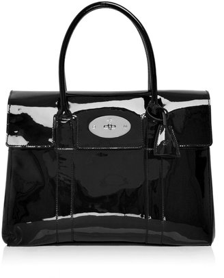 Mulberry Patent Black Bayswater - Tote Bags