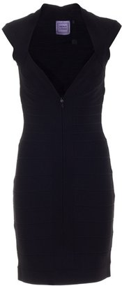 HERVE LEGER - Zip-front bandage dress - Clothes
