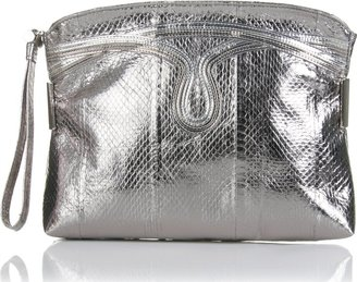 Jimmy Choo Metallic Snake Embossed Clutch - Handbags