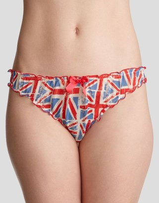 Britnix Silk Union Jack Frill Brief - Pajamas & Intimates
