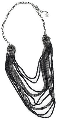 Mesh Knot Necklace - Layered Sterling Necklace