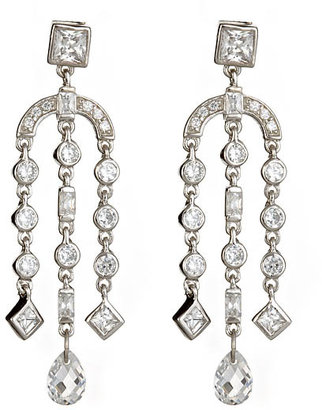 Genevive by CZC Chandelier Falls Earrings - Diamond Chandelier Earrings