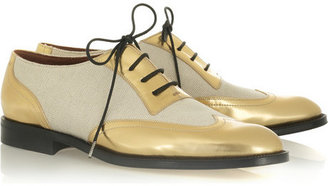 Marc Jacobs Metallic lace-up brogues - Boyish Brogues