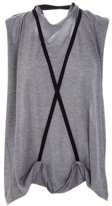 RAD HOURANI - Strap detail oversized Tee - Clothes