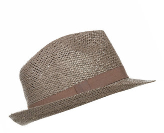 Plain Straw Trilby Hat - Fashion Hats For Women