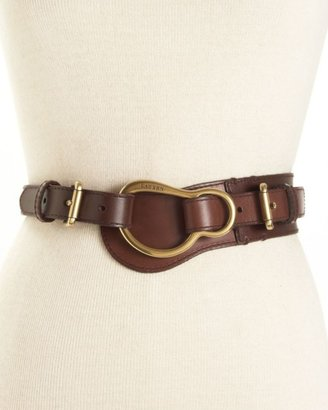 Lauren by Ralph Lauren Leather Equestrian Belt - Lauren Ralph Lauren