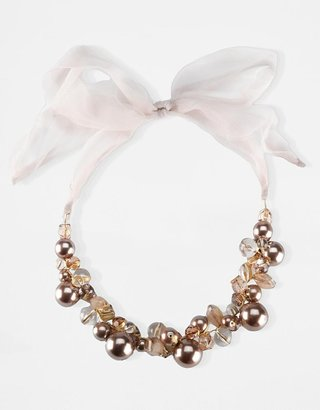 Catherine Stein Tulle-Tie Beaded &amp; Faux-Pearl Necklace - Catherine Stein Necklaces