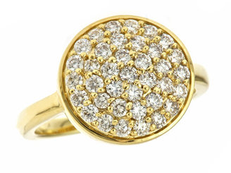 KC Designs Yellow Gold Diamond Pave Disc Ring - Gemstone Rings