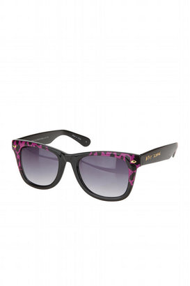 Betsey Johnson Animal Print Wayfarer - Betsey Johnson