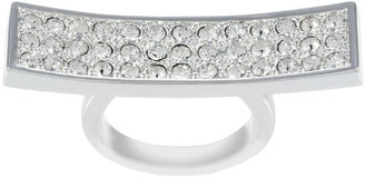CC Skye Silver Crystal Knuckle Duster Ring - Decorative Rings