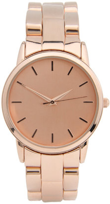 ASOS Rose Gold Effect Retro Style Oversized Watch - Rose Gold Watches