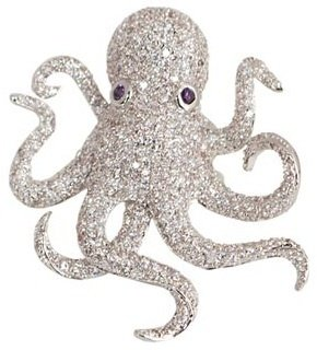 nOir - Octopus Ring, Clear/Silver/Purple - The Best of Noir Jewelry