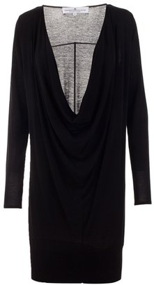 DESIGNERS REMIX - Plunging draped knit dress - Designers Remix