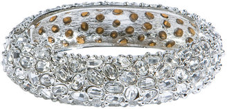 Kenneth Jay Lane Cluster Silver/Crystal Bangle - Bracelets