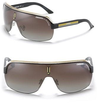 Carrera &quot;Top Car&quot; Racer Shield Sunglasses - Shield Wrap Sunglasses