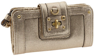 Juicy Couture &#39;Lady Lock&#39; Continental Clutch Wallet - Gold Clutch Bags