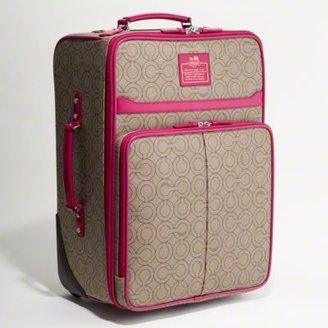 Coach Op Art Coated Canvas Wheel-away Suitcase - Rollerboard