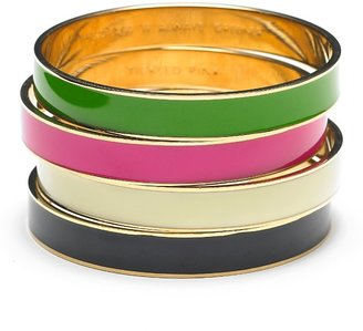kate spade new york Idiom Bangle Bracelet in Green - Bangle Bracelets for Small Wrists