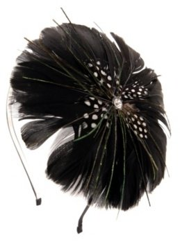Black Feather Canopy Headband - Hair Accessories