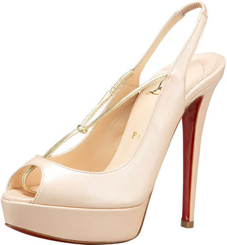 Christian Louboutin Thong T-Strap Slingback - Heels